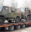 Camion militari per Fare Natura Onlus