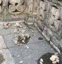 Vittorio Veneto, danneggiata una delle statue dei giardini