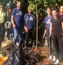 Il gruppo Plastic Free con il sindaco Davide Bortolato