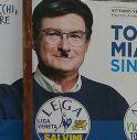 Toni Miatto con i baffi di Hitler