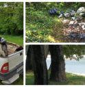 Ripulito dai rifiuti il parco
