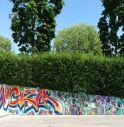 I graffiti fatti dai ragazzi di Preganziol durante il laboratorio organizzato dall'Amministrazione