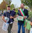 Il sindaco di Mogliano Davide Bortolato durante la Festa degli Alberi 2021
