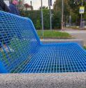 Panchina blu, simbolo della bi-genitorialità