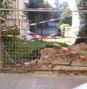 il muro sfondato in Borgo Aleandro