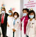 Taglio del nastro per il Punto Allattamento Materno a Montebelluna