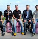 Mauro Scovenna (Bike Channel), Alberto Stocco (Ca' del Poggio), Paolo Savoldelli (Bike Channel), Luigino Sartor (assessore Comune di San Pietro di Feletto), Tommaso Razzolini (assessore Comune di Valdobbiadene)
