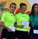 Ilaria Carrer (a sinistra) e Camilla Beggiato (al centro) sul podio a Rovigo
