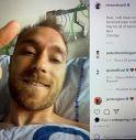 Eriksen sorride dopo il malore: