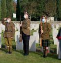 Momento commemorativo al cimitero britannico di Tezze di Vazzola