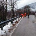 Posa guardrail statale Alemagna