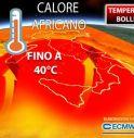 Meteo, settimana bollente con temperature fino a 40 gradi