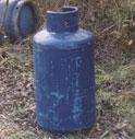 BOMBOLA DEL GAS IN MACCHINA PER FARSI ESPLODERE