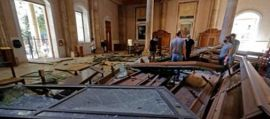 Beirut chiesa distrutta