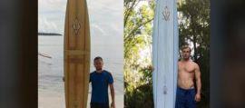 Perde la tavola da surf alla Hawaii, la ritrova due anni dopo nella Filippine