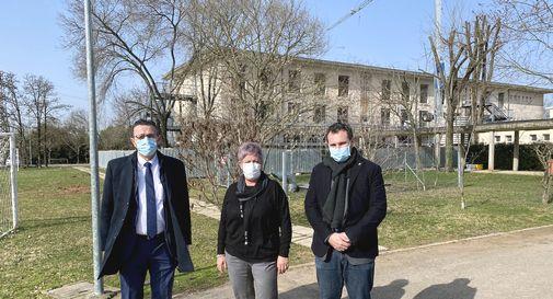 Da sinistra: Stefano Marcon (sindaco di Castelfranco), Antonella Alban (ds Isiss Sartor), Alessandro Righi (consigliere provinciale)