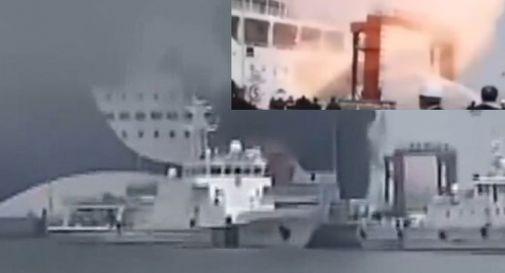 Esplosione a bordo del Zhong Hua Fu Qiang.