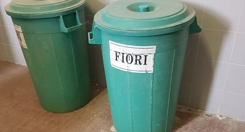ceneri del defunto nella spazzatura