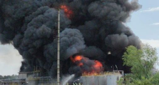 Incendio a Marghera