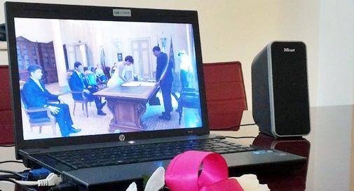 Matrimonio via streaming per il papà in casa di riposo
