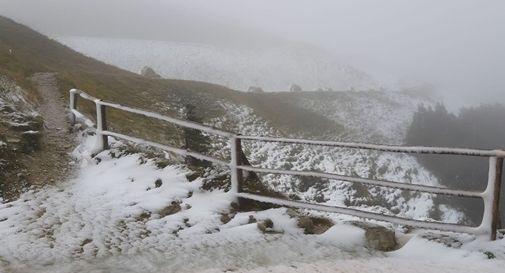 Prima neve questa mattina sul Pizzoc