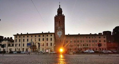 Raggio di sole che attraversa la cittadella di Castelfranco Veneto