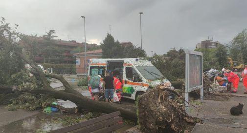 Bomba d'acqua sulla città di Verona