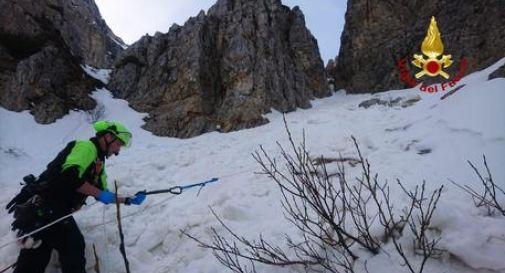 Uomo ucciso da una slavina sul Monte Pasubio