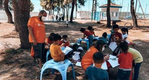 intervento umanitario in Grecia di Protection4Kids