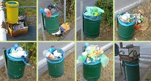 """Cestini usati per i rifiuti domestici: """"Attivate il Controllo di Vicinato"""""""
