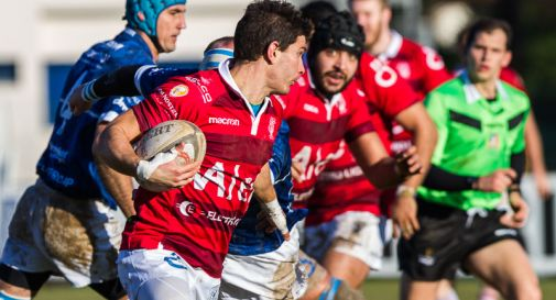 Un attacco del Mogliano Rugby durante la gara di andata