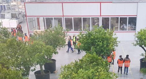 gli scolari di Levada durante la visita