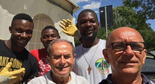 Pietro Scomparin e i volontari