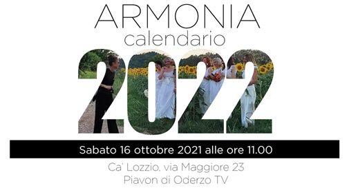 "calendario 2022, intitolato ""Armonia"""