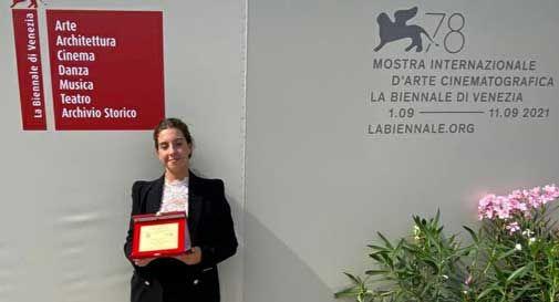 Vittorio Veneto, Alessia Toffoli premiata al Festival del Cinema di Venezia