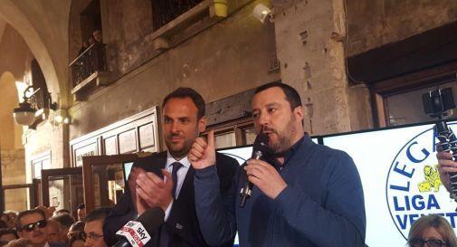 Salvini arriva a Treviso per la festa della Lega
