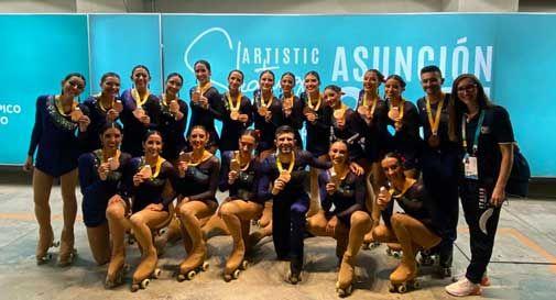 Vazzola, la squadra di pattinaggio sul tetto del mondo: terza classificata ai mondiali in Paraguay