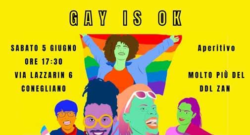 "Conegliano, aperitivo Lgbt+ ""Gay is ok"""