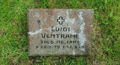 la foto della lapide di Luigi Ventrame