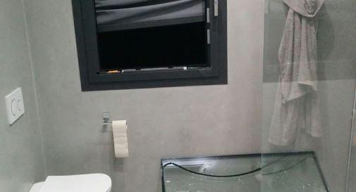 la foto del furto postata nei social