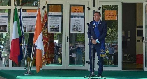 Stefano Marcon, in veste di Presidente della Provincia di Treviso, all'inaugurazione della nuova sede del Maffioli.