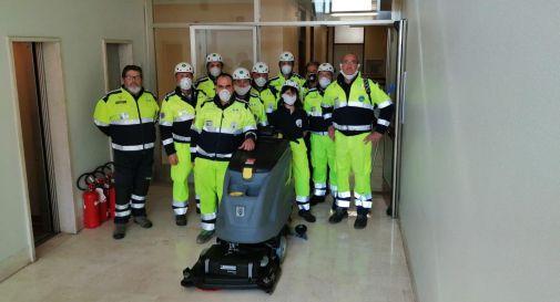 Ospedale Valdobbiadene squadra PC ANA Conegliano