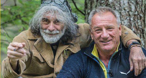 Mauro Corona e Lino Zani