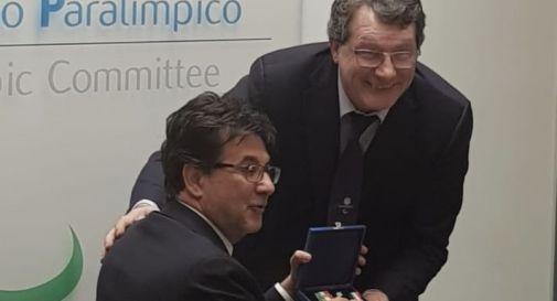 Davide Giorgi con Luca Pancalli