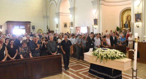 un momento del funerale di oggi a Cimadolmo