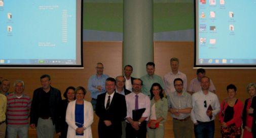Delegazione belga in visita all'ospedale di Montebelluna