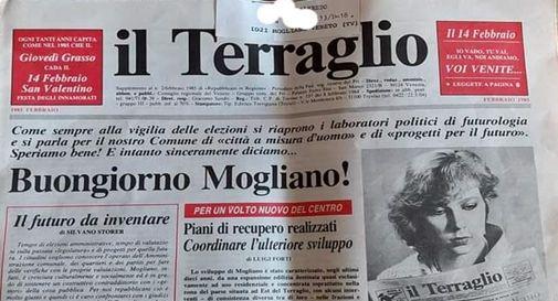 La copia del giornale datata 1985 arrivata a casa della signora Zane