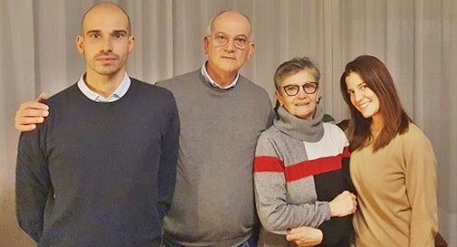 Famiglia Florean, Antonio e Francesca con i figli Giovanni e Laura