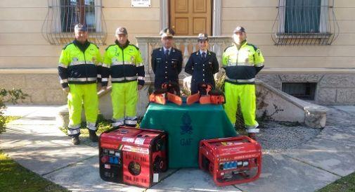 Alla Protezione Civile in dono le motoseghe confiscate