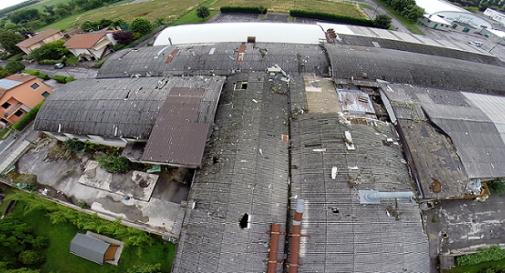 foto del tetto dell'ex Cdm dal drone